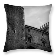 The Shattered Fortress Throw Pillow