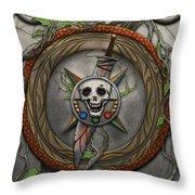 The Shattered Skull Throw Pillow