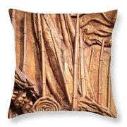 Saint Gaudens -- The Shaw Memorial's Left Side Throw Pillow