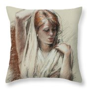 The Shawl Throw Pillow