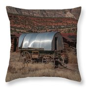 The Sheep Wagon Throw Pillow