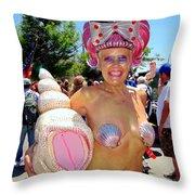 The Shell Queen Throw Pillow