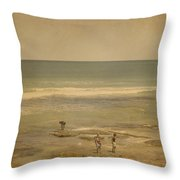 The Shell Seekers Throw Pillow