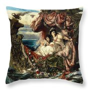 The Shipwreck Of Agrippina Throw Pillow