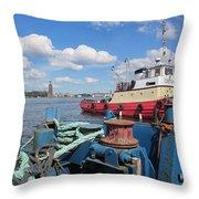 The Shipyard Throw Pillow