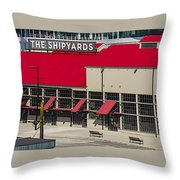 The Shipyards In Vancouver Throw Pillow