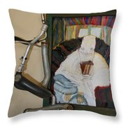 The Shoe Isn't Important The Run Is - Framed Throw Pillow