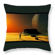 The Shore Of The Cupric Seas... Throw Pillow