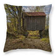 The Shortest Covered Bridge I Have Seen Throw Pillow