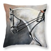 The Show Horse Stride Throw Pillow