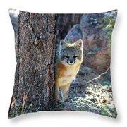 The Shy Fox Throw Pillow