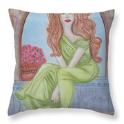 The Sibyl - Grecian Goddess Throw Pillow