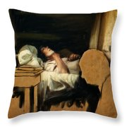 The Sickbed Throw Pillow
