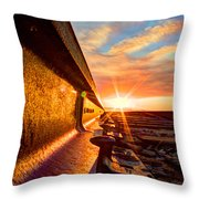 The Side Of The Rail Throw Pillow