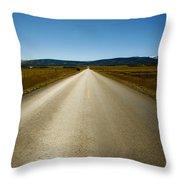The Side Road Throw Pillow