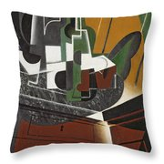The Sideboard, 1917 Oil On Plywood Throw Pillow