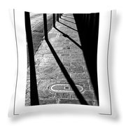 The Sidewalk Poster Throw Pillow