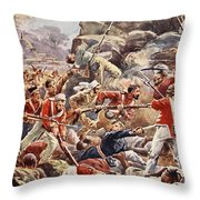 The Siege Of Delhi, 1857 Storming Throw Pillow
