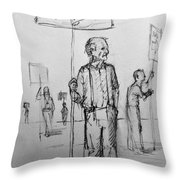 the Sign boys Throw Pillow
