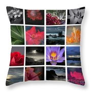 The Silence Of Time Throw Pillow