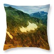 The Silent Mountains Throw Pillow