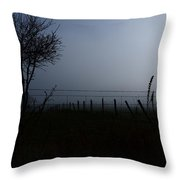 The Silhouette Of Morning Throw Pillow