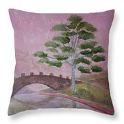 The Silver Tree Throw Pillow