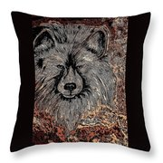 The Silver Wolf 2 Throw Pillow