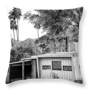 The Simple Life Bw Throw Pillow