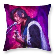 The Singer II Throw Pillow