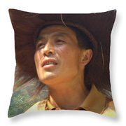 The Singing Boatman Throw Pillow