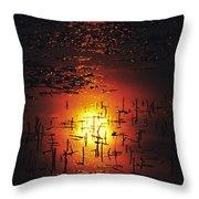 The Sinking Sun Throw Pillow