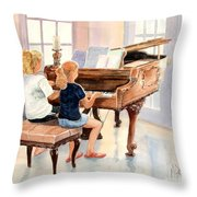 The Sister Duet Throw Pillow