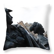 The Six Continents Throw Pillow