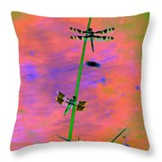 The Skimmer And The Whitetail Art #1 Throw Pillow
