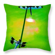 The Skimmer And The Whitetail Art #3 Throw Pillow