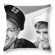 The Skipper And Gilligan Throw Pillow