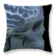 The Skull And Brain Throw Pillow