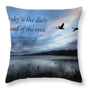 The Sky Throw Pillow by Lori Deiter