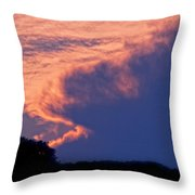 The Sky On Fire Throw Pillow