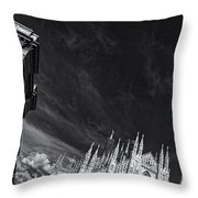 The Sky Over Cathedral Throw Pillow