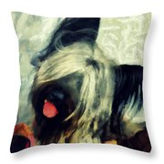 The Skye  Terrier Tilt   Throw Pillow