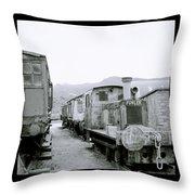 The Steam Train Throw Pillow