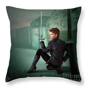 The Slayer Of The Dock Throw Pillow