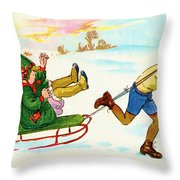 The Sled Throw Pillow