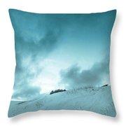 The Sledding Hill Throw Pillow