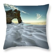 The Sleeping Giants Sea Lion Throw Pillow