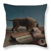 The Sleeping Gypsy Throw Pillow