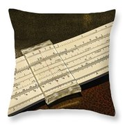 The Slide Rule Throw Pillow