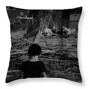 The Slums Await Us Throw Pillow